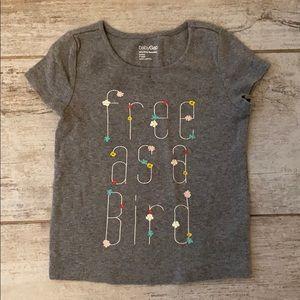Baby Gap short sleeved gray girls T-shirt 3T
